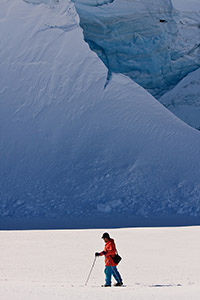Cross-country skiing in Antarctica