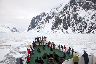 Cruising through Antarctica's Lemaire Channel